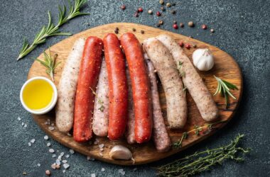 Assorted fresh sausages